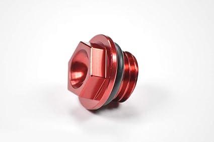 Amazoncom Red Oil Fill Cap Plug Bolt Honda Yamaha Kawasaki Cr Yz