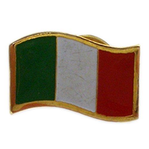 Waving Italian Flag Pin