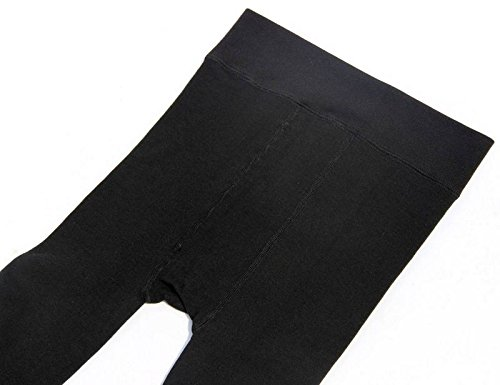 Jsix Mens Free Size Fleece Lined Mid-Weight Bottom Think Thermal Pant Underwear Black