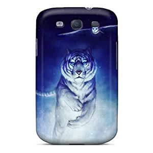 Fashionable Style Case Cover Skin For Galaxy S3- White Tiger Owl Art
