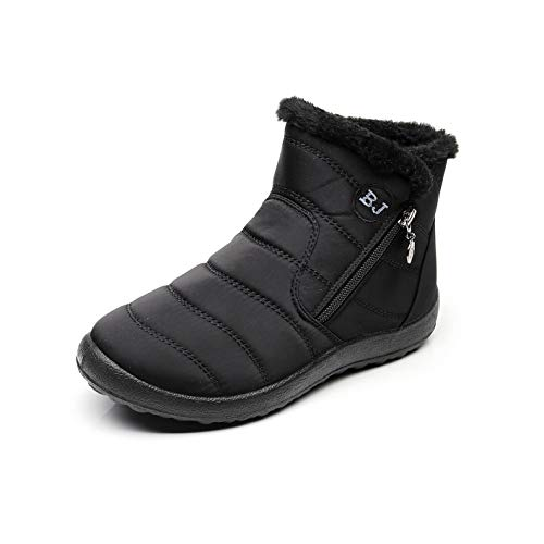 Nieve Negro Zapatillas De Zapatos Mujer Outdoor Libre 43 Tobillo Sneakers 35 Al Botas Rojo Invierno Altas alto Aire Negro Forro Antideslizante Calentar Azul qgawgFtP