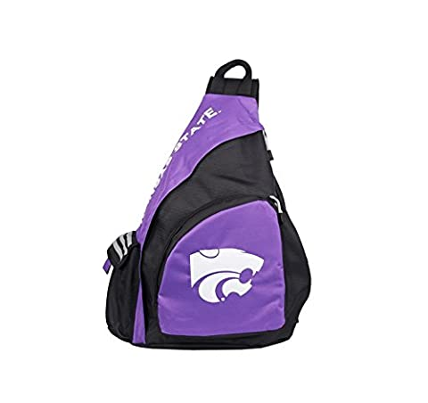 NCAA Kansas State Wildcats Leadoff Sling Backpack, 20-Inch, Black - State Sling Backpack
