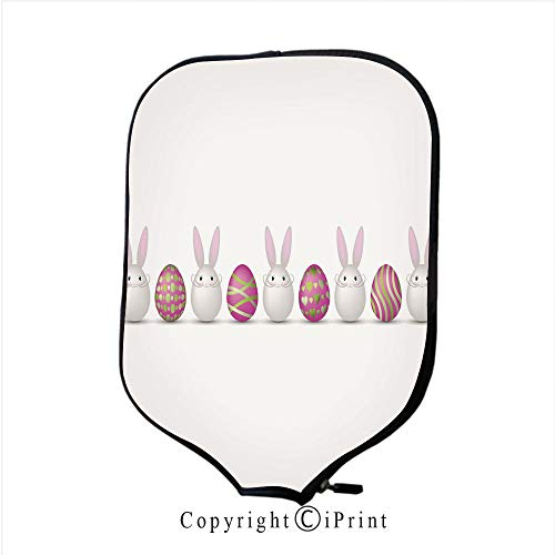 Neoprene Sports Pickleball Paddle Cover Sleeve,Easter Vintage Style Greeting Card(Size:8.23