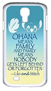 Mystic Zone Classic Cartoon Lilo and Stitch Case for Samsung Galaxy S4 Hard Cover Fit Cases SGS1036