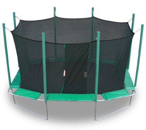 Magic Circle 9 Ft X 14 Ft Rectagon Trampoline With Safety Cage by KIDWISE