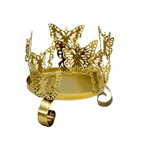 Changsha Xiaoxiao Li Mini 3D Butterfly Hollow Wrought Iron ck Vintage Candle Stand Holder for Party Wedding Decoration Table Ornament,A1