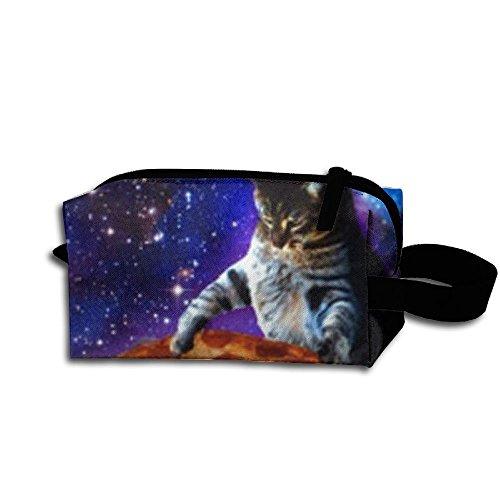 Cat Dj Storage Cosmetic Bag Portable Travel Makeup Bag Packing Pouches (Halloween 2000 Calendar)
