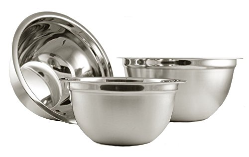 Ybm Home Deep Professional Quality Heavy Duty Stainless Steel Mixing Bowls for Serving Mixing Cooking and Baking - Set of 3(3 and 5 and 8 Quart) 1170-1171-1172set