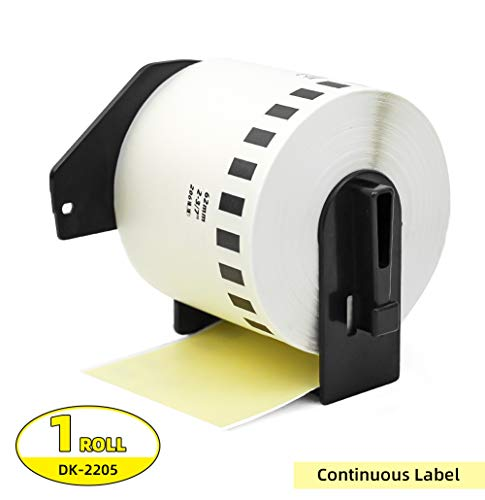 Label Orison-Replace DK-2205 Yellow Continuous Paper Tape Labels DK22205 62mm x 30.48m(2-3/7