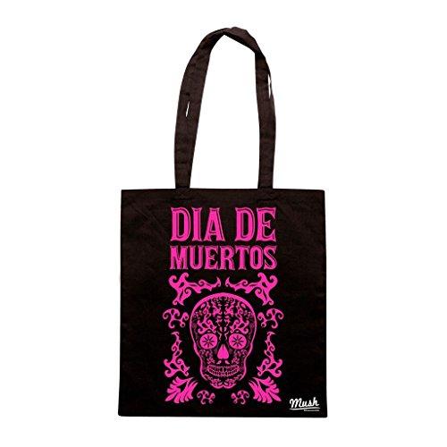 Borsa Dia De Muertos Mexico - Nera - Famosi by Mush Dress Your Style