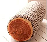 JustNile Wood Log Soft Decorative Throw Pillow, Comfy Cute Cushion for Bed, Sofa, Home & Travel; Creative, Real Looking Natural Design Made for Great Comfort; Made from Sturdy Foam