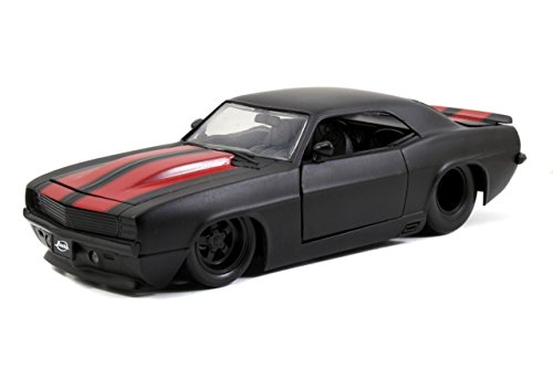 NEW 1:24 W/B BIG TIME MUSCLE - Black 1969 Chevy Camaro Diecast Model Car By Jada Toys (1969 Camaro Diecast compare prices)