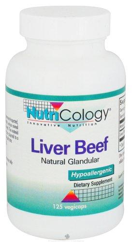 (Nutricology Liver Organic Glandular - 125 Vegetarian Capsules, 3)