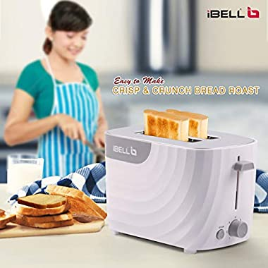 iBELL WG70 700-Watt Premium Pop-up Bread Toaster with Crumb Tray, Mid Cycle Heating Element (White) 11