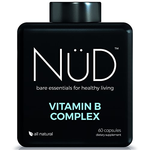 All-Natural Vitamin B Complex Supplements from NuD (60 tablets) - Contains All 8 Essential B Vitamins - Take For Fighting Fatigue, Having Healthy Skin And Better Mental - Men Nud
