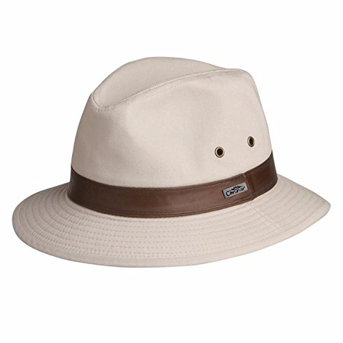 Larimer Mens Cotton Safari Hat Natural Large
