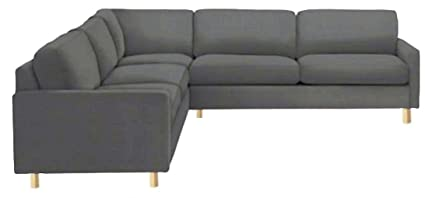 Sofa Cover Only! The Durable Heavy Cotton Karlstad Sectional Sofa Cover 2+3  /