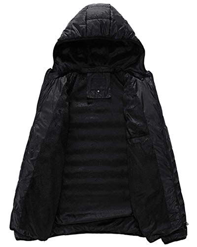 Parka Quilted BoBoLily Jacket Long Coat Warm Jacket Jacket Coat Jacket Hooded Sleeve Ultralight Down Men Winter Schwarz Winter t66rwf