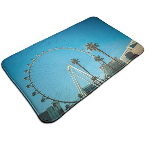 - Henua Ferris Wheel in London During Daytime Entrance Door Mat Welcome Indoor Bathroom Home Decorative Floor Mat/Cover Floor Rug Indoor/Outdoor Area Rugs