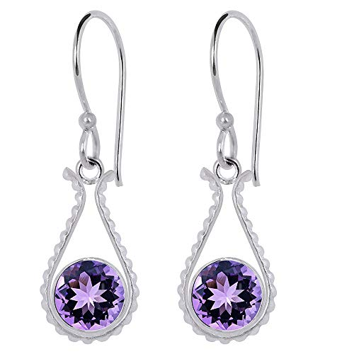 Natural Amethyst Earrings By Orchid Jewelry  Amethyst Jewelry  Dangle Earrings  Hypoallergenic Earrings  Earrings For Sensitive Ears  Nickel Free Earrings  Wedding Earrings (2.25 Ctw)
