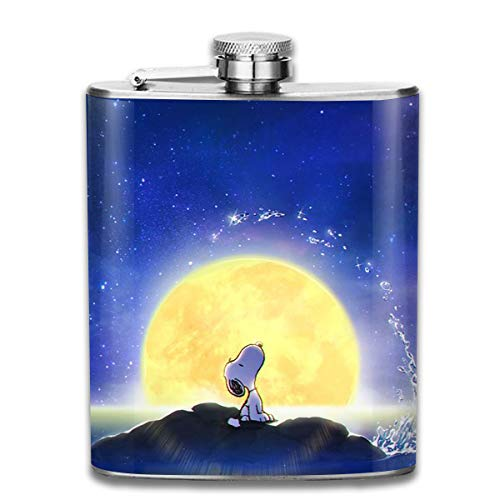 (CFECUP Stainless Steel Flask Snoopy Mermaid Wine Bottle with Lid Leak Proof 7 Ounce)