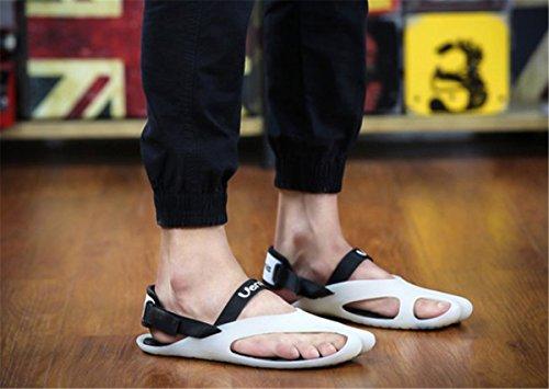 Bininbox Mens Platta Sandaler Sommar Andas Sko Öppen Tå Sport Flip-flops Vit