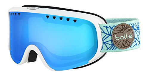 Bolle Scarlett Matte Diamond Modulator 2.0 Vermillion Blue NXT Googles, White/Blue, One - Bolle Modulator