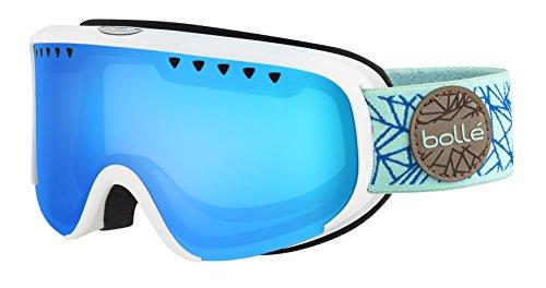 Bolle Scarlett Matte Diamond Modulator 2.0 Vermillion Blue NXT Googles, White/Blue, One - Vermillion Bolle Goggles Ski Modulator
