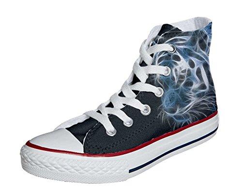 Unisex Converse matizada tigre HANDMADE All blanco del personalizados Star Producto zapatos negro con pTqZgRTI