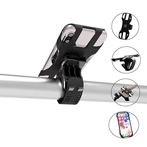 Quntion Bike Mount, 360 Degree Rotatable Silicone Strap Bike Phone Holder Universal Adjustable Cycling Motorcycle Bike Cell Phone Mount for 4.0