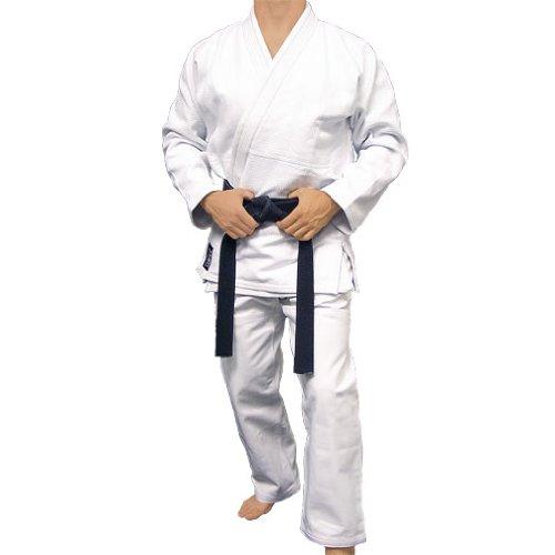 Gold Weave BJJ JiuJitsu Jutsu Uniform Kimono 550g - White (A3)