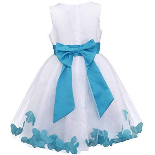 60fce2b43 iEFiEL Girl Bowknot Flower Petals Dress Christening Wedding Bridesmaid  Formal Party Dress - Buy Online in Oman. | Clothing Products in Oman - See  Prices, ...