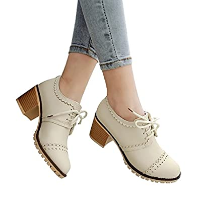Amazon.com | Susanny Classic Retro Pu Oxfords Brogue Shoes Women's ...