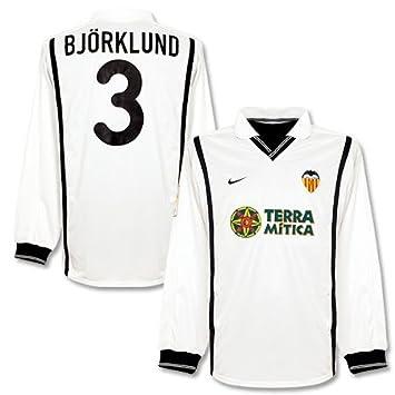 00 – 01 Valencia home L/S Jersey + Bjorkland nº 3 – Jugadores,
