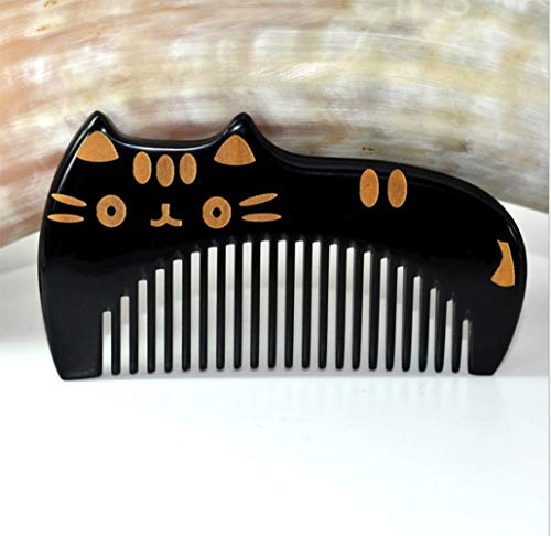 Ultra Smooth Hair Combs for Girls and Boys - Handmade 100% Natural Buffalo Horn Comb with Anti-static, Pocket Size,Fine Tooth, 4""