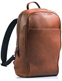 Leather Backpack Laptop Backpack Travel Bag - Made in Italy