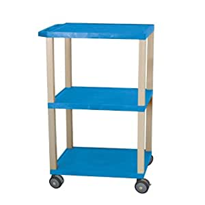 Luxor Mriwt42Bu Non-Corrosive Blue Mri Cart With Putty Nickel Legs