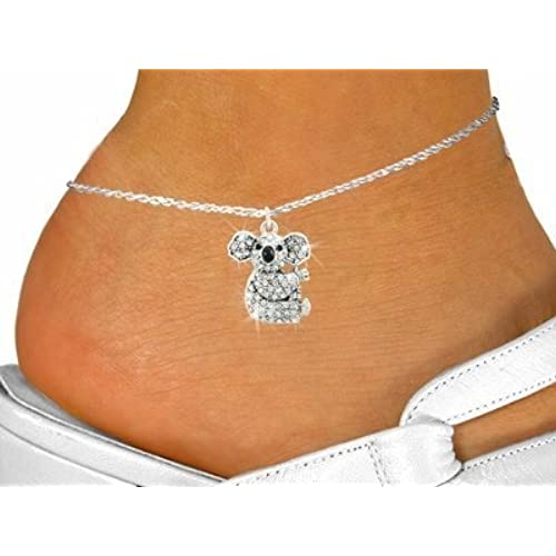 hot sell Pave Crystal Koala Charm & Anklet for cheap