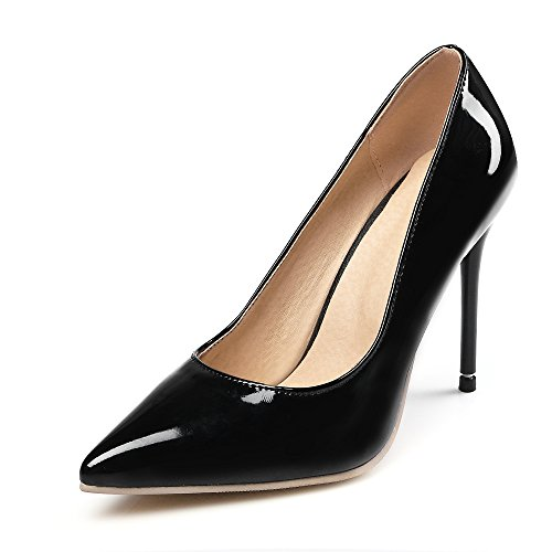cm 10 Shoes Fashion Super 5 Toe Heel Women black Pumps Stiletto High heel Court Black Pointed Ladies 6wqPa1fa