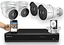 Camius 5MP PoE Home Security Camera System with a 2TB 4K 8CH NVR, 4-Pack 5MP IP Security camera (Dome/Bullet) compatible with Win, iOs, Android, supports P2P, DDNS, FTP, Dropbox