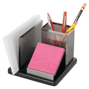 ELDON OFFICE PRODUCTS Distinctions Desk Organizer, 5 7/8 X 5 7/8 X 4 1/2, Metal/Black