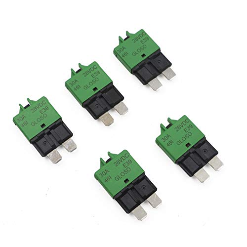 T Tocas 30 Amp 5pcs Manual Reset Low Profile ATC Circuit Breakers 12V - 28VDC (30A)