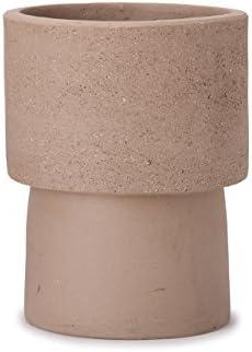 植木鉢 小型・中型 コントン・ポット キャシル トール M 8号 ホワイトクレイ