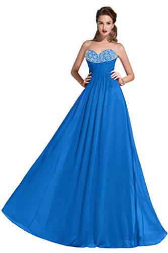 sunvary Empire de la cintura Gorgeous de raso PROM Pageant vestidos mujer 2015 Azul