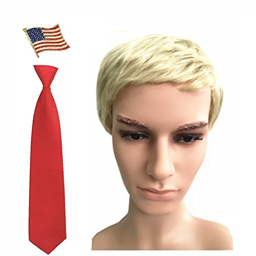 Set of Billionaire 2016 Presidential Candidates Halloween Costume Wig Tie (Offensive Halloween Costumes For Kids)