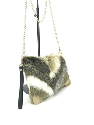 faux Series sling OLIVIA chevron ladies with in chain Gold GoodCape style bag Camel fur wE5Rqna4