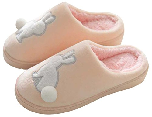 Pantofole Da Donna Pantofole In Cotone, Scarpe Da Casa Indoor Scarpe Basse In Eco-pelle Foderate 5 Colori Beige