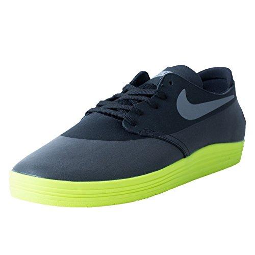 Nike Sb Lunar Oneshot Mens Skate Shoes in Black/reflective Silver/volt