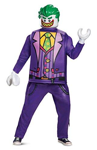 Disguise Men's Joker Deluxe Adult Costume, Purple, One Size -