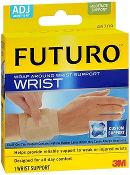Futuro Wrap Around - Futuro Wrap Around Wrist Support Adjust To Fit 1 Size - Each, Pack of 5
